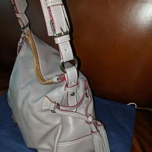 Dooney and Bourke leather Teagan purse taupe LKN!